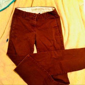 J. CREW BENNETT CHINO RED RUST PANTS